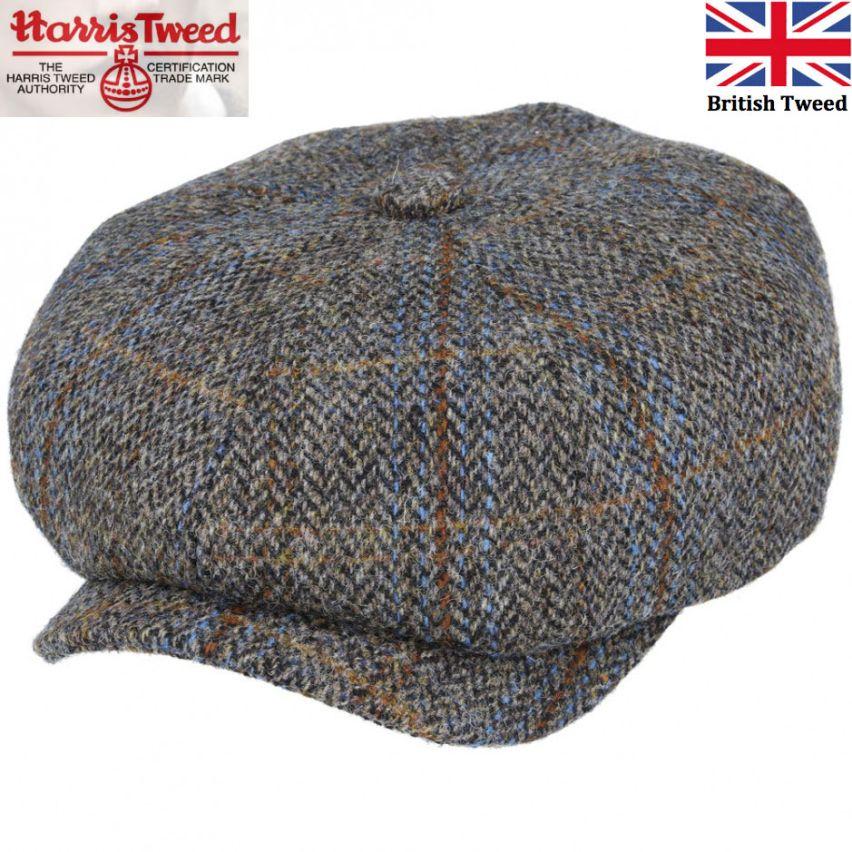 Harris Tweed mens flat cap one size small head 54-55cm
